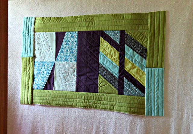 On the wall -- when I thought it should become a quilt