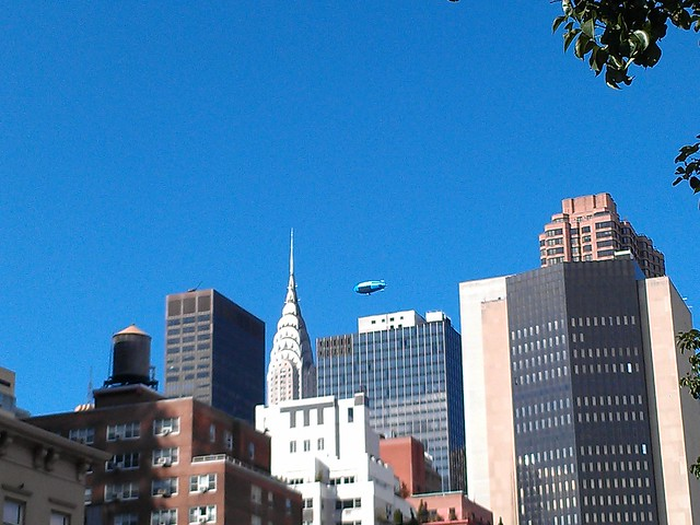 High above the Chrysler Building, it's @DTVblimp!