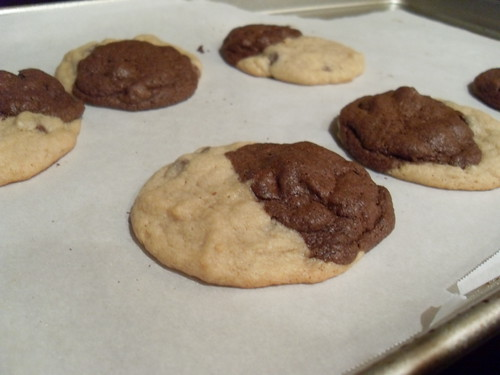Fudgey Chocolate Chocolate Chip and Chocolate Chip Cookie