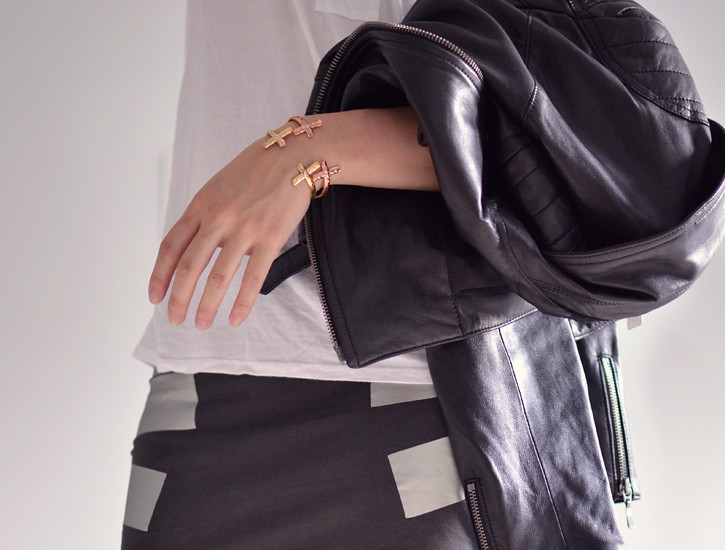 cheapmonday-cross-bangles-leather-jacket-club-monaco