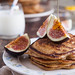 Cranberry pancakes with fresh figs