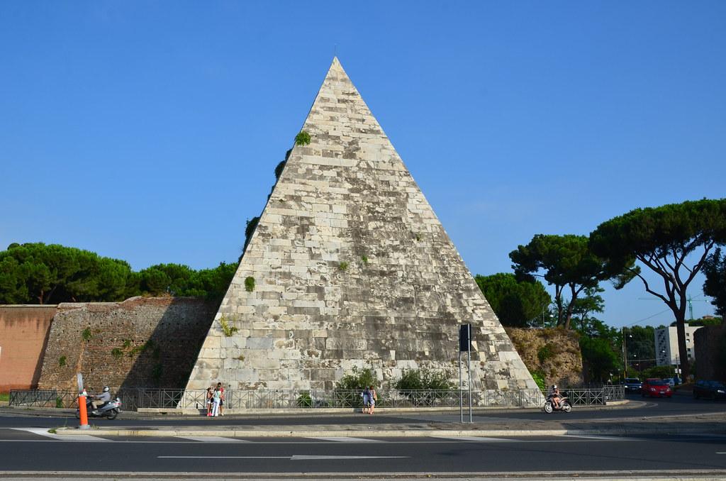 Pyramid of Caius Cestius, 12 BCE