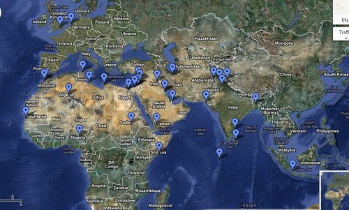 Muslim Protests   Google Maps