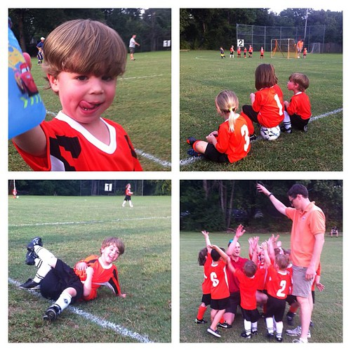 Austin's 1st soccer game!  Go Tigers!!!