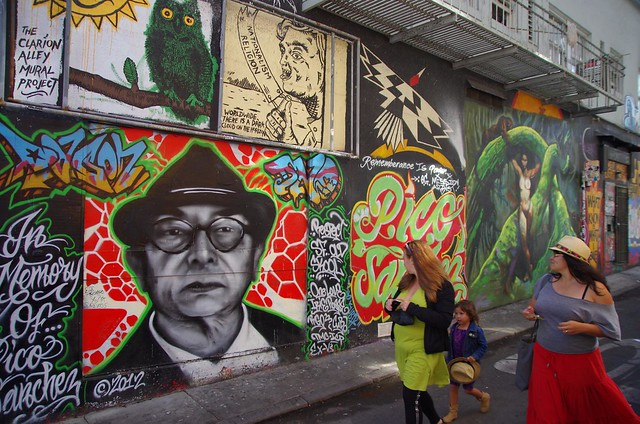Clarion Alley Mural Streetart project - Mission district San Francisco, California