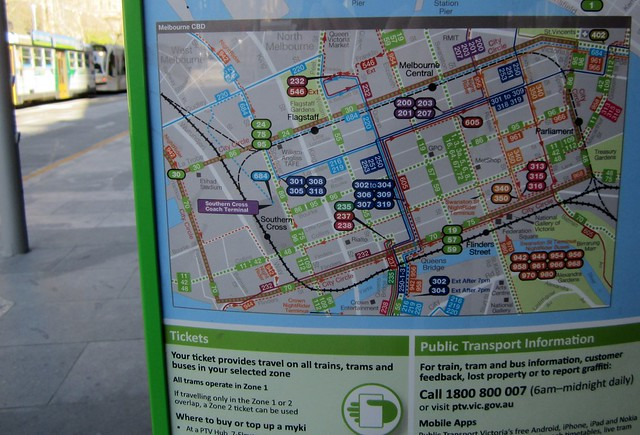 Swanston St maps out of date