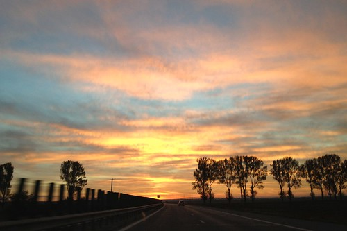 sky sunrise skyscape highway iphone autostrada cer rasarit peisaj
