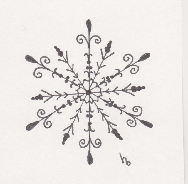 Snowflake Sketch 1 | Flickr - Photo Sharing!