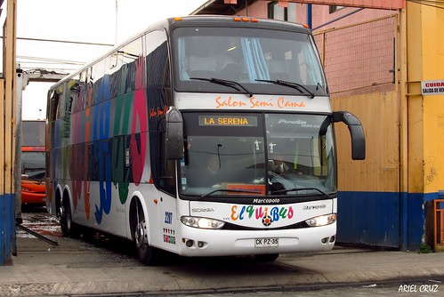 Elqui Bus (Pullman Bus) | Talleres Pullman Bus | Marcopolo Paradiso 1800 DD / CKPZ35