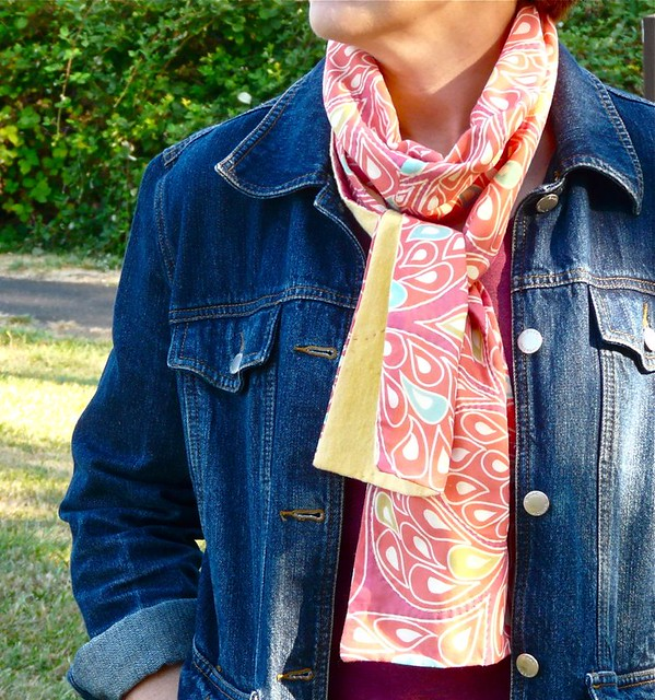 How to Make a Voile & Flannel Fall Scarf