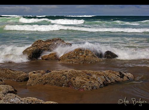 ocean summer sky usa beach nature clouds oregon coast rocks waves oregoncoast tidepool lincolncity blinkagain