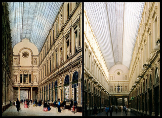 postcard & photo - Galeries St. Hubert, Then & Now