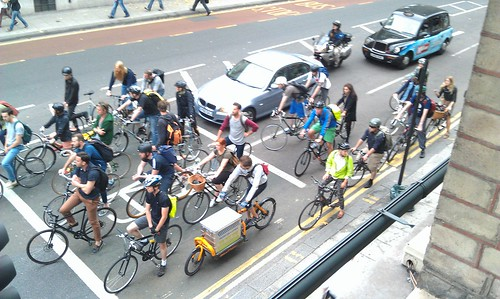 #bikeboom pic negates almost every wonky stereotype about people who ride bikes in London