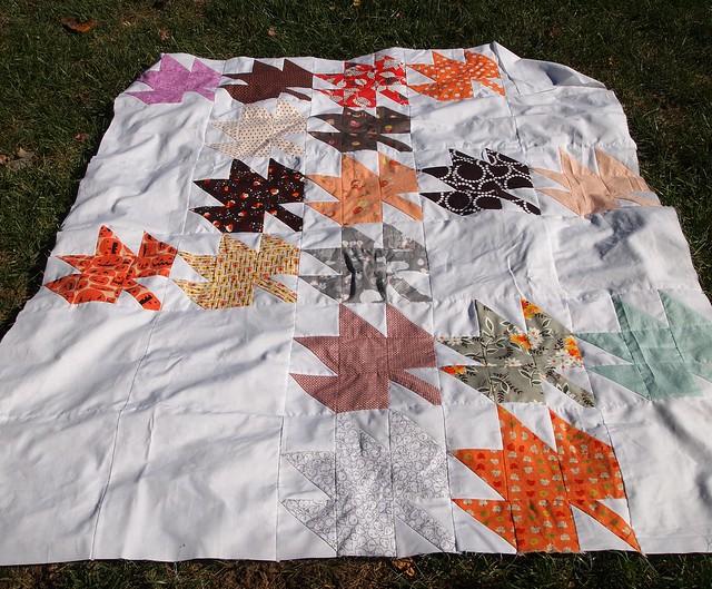 Scrappy Modern Maples Quilt