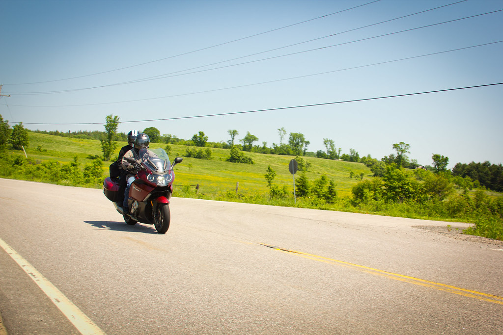 Picture of motorcyclists in St. Jacobs