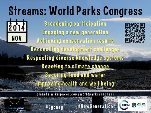 Main Streams for the 2014 World Parks Congress #tapasiucn #sydney #NewGeneration @IUCN @anna_spenceley