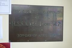 Opening plaque