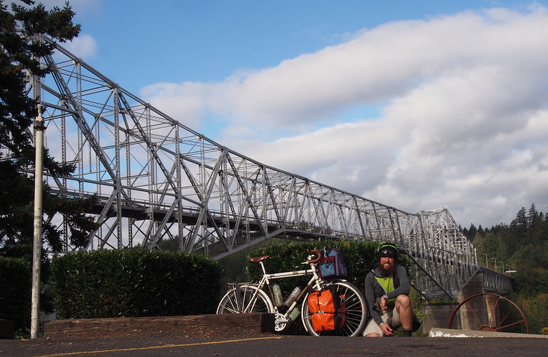 Neil and Ivory Pass at the Bridge of the Gods: It was fine with 42mm tires.