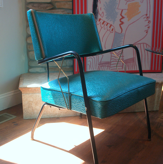 Vintage Art Deco Style 1950s Chair Mid Century Modern