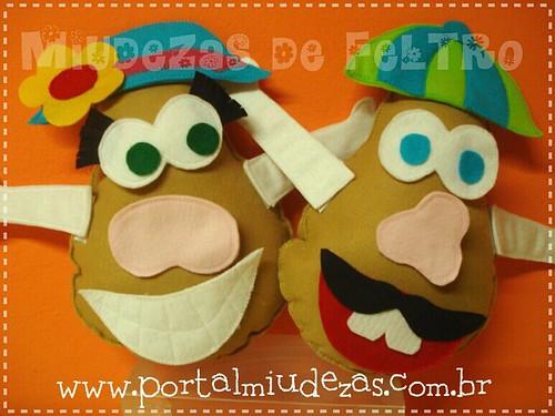 Amoooo!! Senhor e Senhora Cabeça de Batata by miudezas_miudezas
