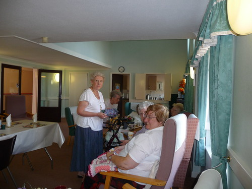 Here I am talking to some of the Residents.
