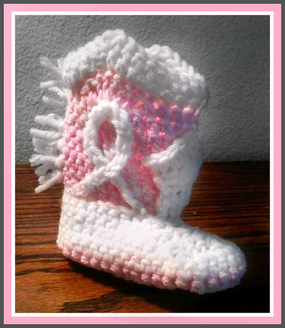 Crochet Baby Cowgirl Pattern : Crocheted Baby Cowgirl Bootie Pink Flickr - Photo Sharing!