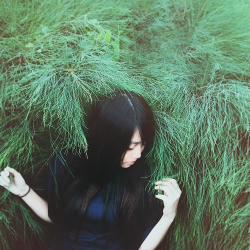 無料写真素材, 人物, 女性  アジア, 人物  草原, 台湾人