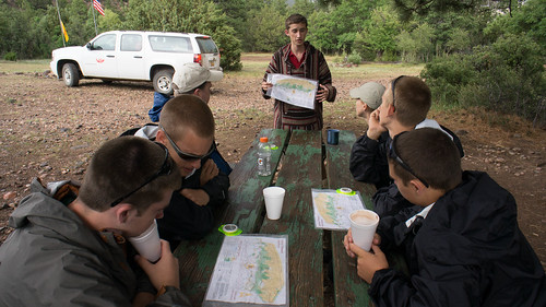 Land navigation and orienteering instruction at Zastrow