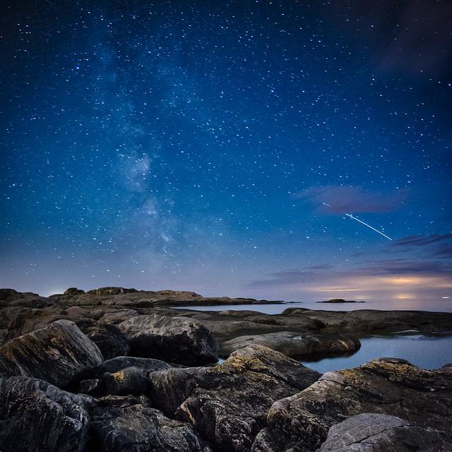 2012 Perseid Meteor Shower + ISS passage
