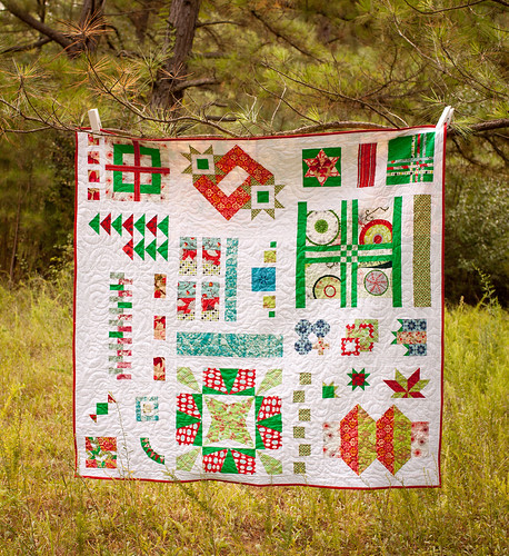 Block-a-Thon Christmas Quilt