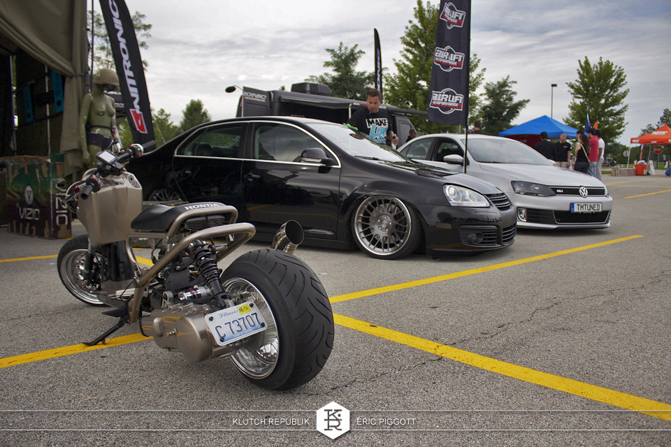 honda ruckas black vw mk5 jetta rotiform brotiform wheels at midwest treffen 2012 3pc wheels static airride low slammed coilovers stance stanced hellaflush poke tuck negative postive camber fitment fitted tire stretch laid out hard parked seen on klutch republik