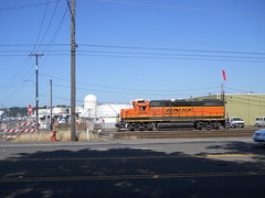 A BNSF switch engine in NW Portland