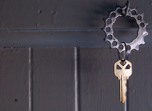 spare house key keychain