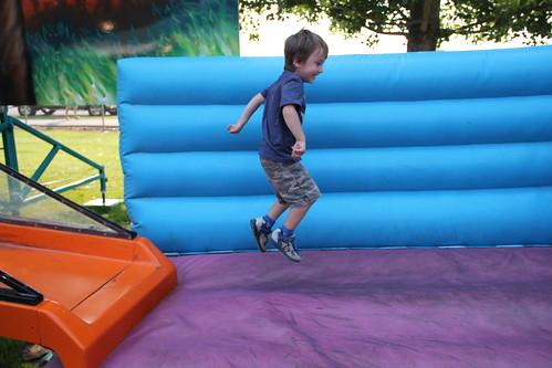 Olsen on the bouncy part