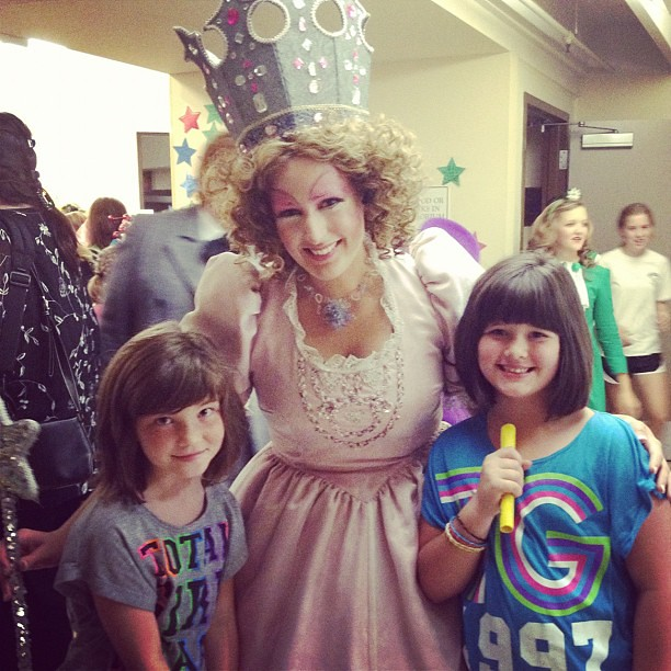 With Glenda the good witch of the North!  We had the best time!