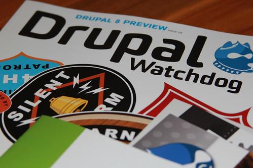 Drupalcon registration swag - Drupal Watchdog