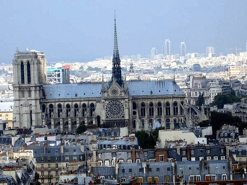 View of Notre Dame from top of Pantheon
