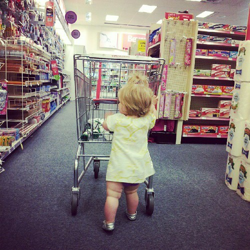 We had to wait for grandma at the minute clinic. We did a little shopping.