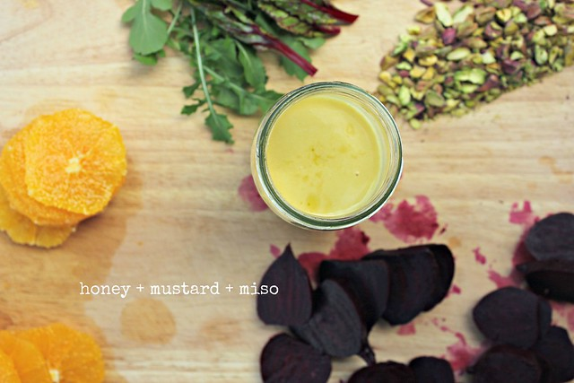 honey + mustard + miso