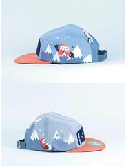 orange, clothing, hat, cap, baseball cap, blue, headgear,