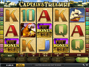 Captain's Treasure Pro Free Spins