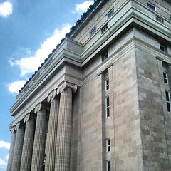 classical architecture, building, landmark, architecture, facade, column,
