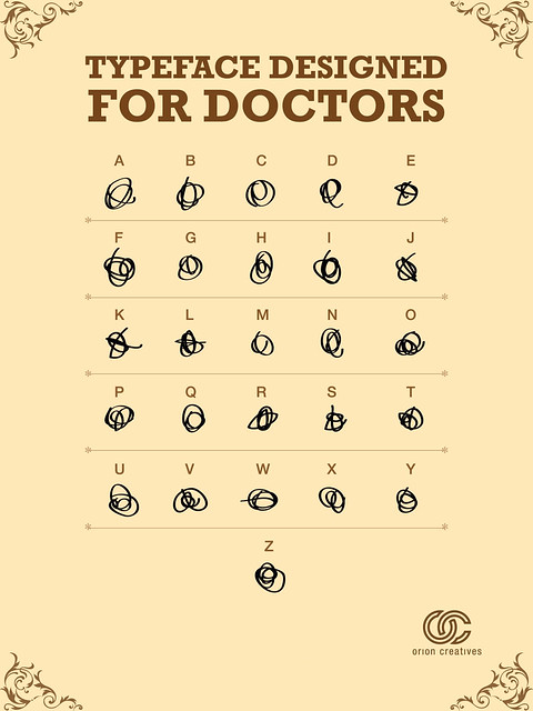 "New Font ""Doctor's Handwriting"""