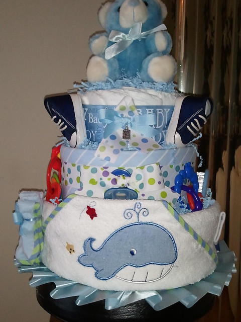 3 Tier Baby Boy Diaper Cake  Flickr - Photo Sharing-1723