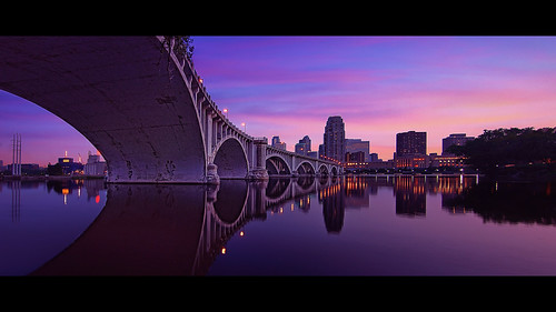 city bridge minnesota architecture river mississippi downtown arch pano minneapolis panoramic twincities avenue mn 3rd 3rdavenue purplerain centralavenue centralavebridge