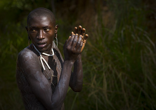 Body Painting in Surma tribe, Tulgit, Ethiopia