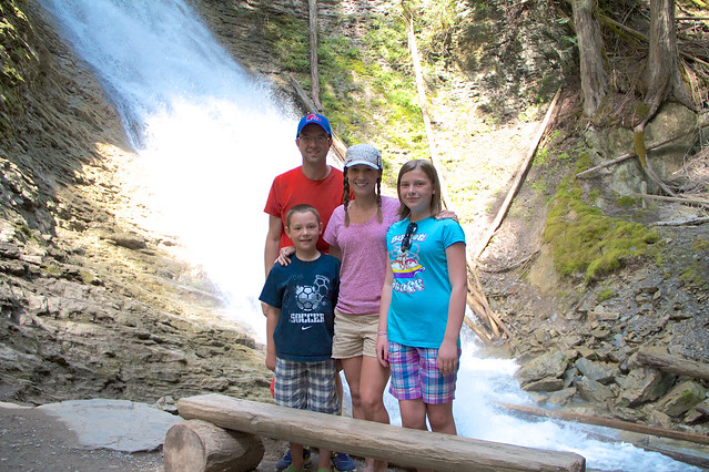 Family shot at Margaret falls