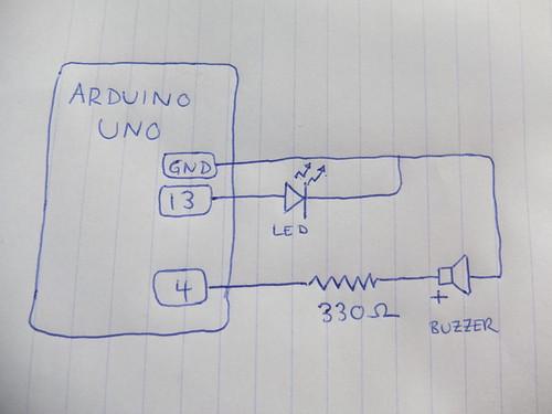 Arduino morse  circuit