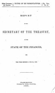1860 Secretary of Treasury Report