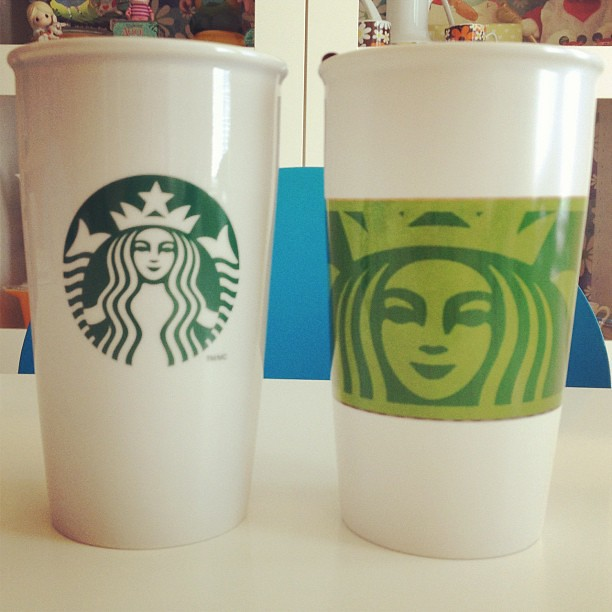 Starbucks glass mugs